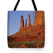 Monument Valley - The Three Sisters Tote Bag