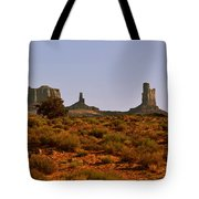 Monument Valley - Unusual Landscape Tote Bag by Christine Till