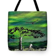 Moomintroll And Lighthouse Tote Bag