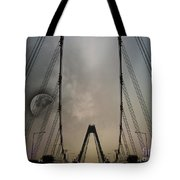 Moon And A Bridge Tote Bag