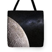 Moon And Galaxy. Tote Bag