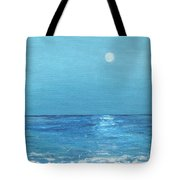 Moon And Meteor Tote Bag