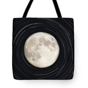 Moon And Startrails Tote Bag