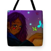 Moon Flies Tote Bag by Antonio Mason