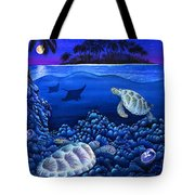 Moon Glow Tote Bag by Carolyn Steele