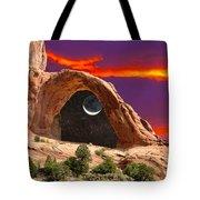 Moon In Corona Arch Tote Bag