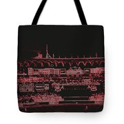 Moon In The Arches In Neon 2 Edited Tote Bag