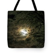 Moon Light With Clouds Tote Bag