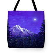 Moon Mountain Tote Bag
