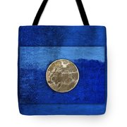 Moon On Blue Tote Bag by Carol Leigh