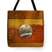 Moon On Gold Tote Bag