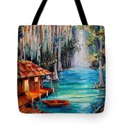 Moon On The Bayou Tote Bag