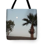 Moon Over Baja Desert Tote Bag