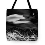 Moon Over Loveland Monochrome Tote Bag