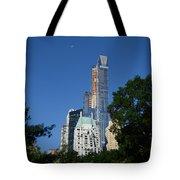 Moon Over Manhattan Tote Bag