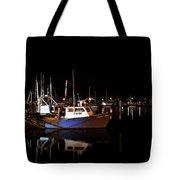 Moon Over Marina 1 - Sheepshead Bay Brooklyn New York Tote Bag