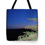Moon Over Mountain Tote Bag