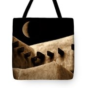 Moon Over Santa Fe Tote Bag