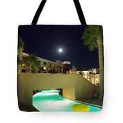 Moon Over The Casino Tote Bag
