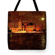 Moon Over Udaipur Painted Version Tote Bag
