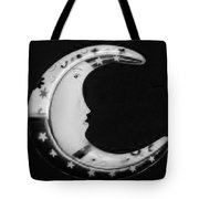 Moon Phase In Black And White Tote Bag