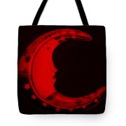 Moon Phase In Blood Red Tote Bag