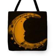 Moon Phase In Orange Tote Bag