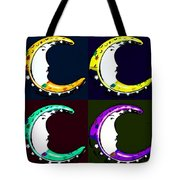 Moon Phase In Pf Quad Colors Tote Bag