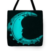 Moon Phase In Turquois Tote Bag