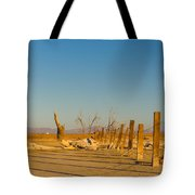 Moon Rise Over Waste Land Tote Bag