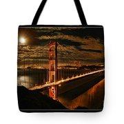 Moon Rise San Francisco Golden Gate Bridge Tote Bag