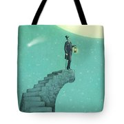 Moon Steps Tote Bag by Eric Fan