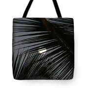 Moon  Through Palm Trees Tote Bag