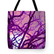 Moon Tree Pink Tote Bag by First Star Art