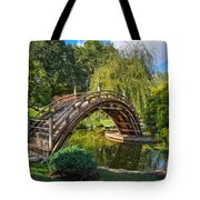 Moonbridge - The Beautifully Renovated Japanese Gardens At The Huntington Library. Tote Bag