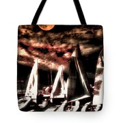 Moonlight Cruise Tote Bag