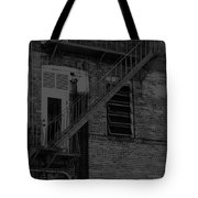 Moonlight Fire Escape Usa Near Infrared Tote Bag