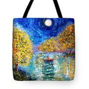 Moonlight Fishing Tote Bag