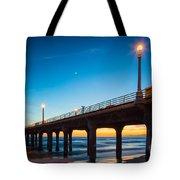 Moonlight Pier Tote Bag
