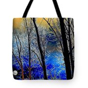 Moonlit Frosty Limbs Tote Bag