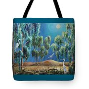 Moonlit Perch Tote Bag