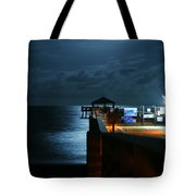 Moonlit Pier Tote Bag by Laura Fasulo