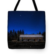 Moonlit Starscape At The Old Smokehouse Tote Bag
