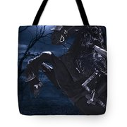 Moonlit Warrior Tote Bag