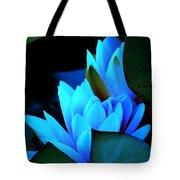 Moonlit Waterlilies Tote Bag