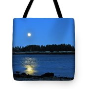 Moonrise Acadia National Park Tote Bag