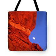 Moonrise Balanced Rock Arches National Park Utah Tote Bag
