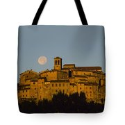 Moonrise Over Anghiarri Tote Bag