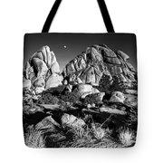 Moonrise Over Joshua Tree Tote Bag