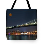Moonrise Over Manhattan Tote Bag
